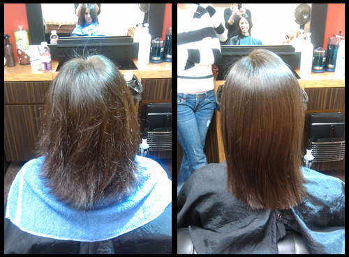 Tampa Keratin Smoothing complex Before and After