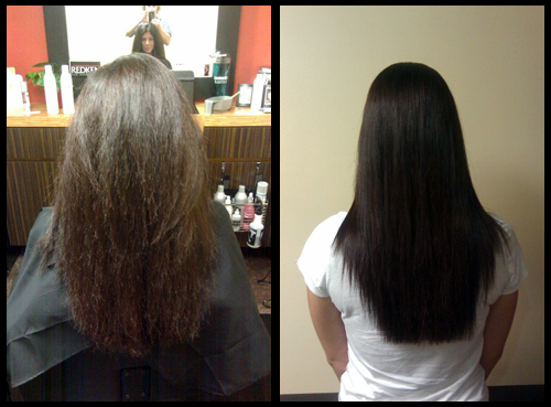 Keratin Before and After Photo Tampa