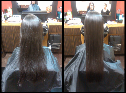 Coppola Keratin Treatment Before & After Tampa